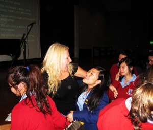 Danni with students