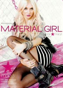 "Lourdes' new fashion label ""Material Girl"" which is aimed at teens."