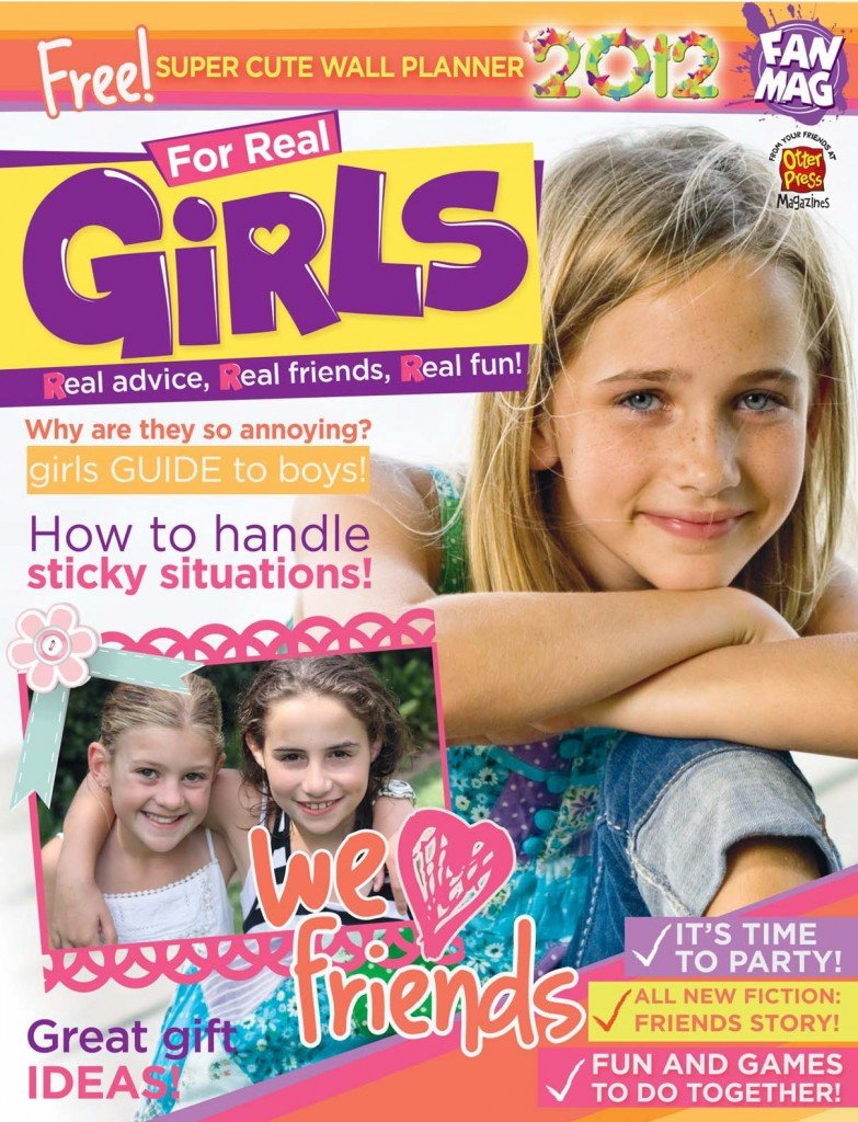 Girls Magazine Porn - For Real GiRLS!, a fantastic new Australian magazine for ages 7 to 12, has  just hit newsagents and Coles stores. It is the brainchild of designers  Sonia ...