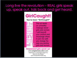 "Enlighten's ""Girl Caught"" stickers"