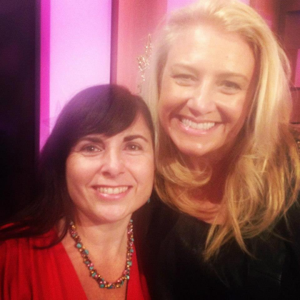 The lovely Jacqui and I on the set of channel 9's Mornings show.